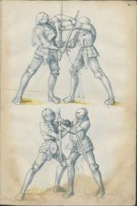 西洋剣の切れ味について 画像の絵では明らかに刃をつかんで戦っていますよね? こういった剣はあまり切れ味がよくないのでしょうか?