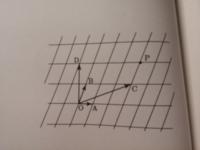 平面上のベクトルの問題についてです。 「添付した画像の図において、ベクトルOPをベクトルOCとベクトルODで表しなさい」 という問題が分からないので分かりやすく教えて下さい。