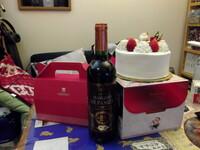 クリスマスケーキ★:゜*☆※>o('ー'*)> partⅡです。   ケーキ、ワイン、セブンイレブンのチキン・・・全て揃いました。  お風呂も早めに完了(‐^▽^‐) オーホッホ。 これを、これから約2時間~3時間で・・...