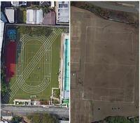 都会の学校の校庭は人工芝などで整備されていますが、田舎はただの土です。 これは都会は面積が狭い分、設備面で補填しているということでしょうか?