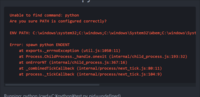atom-runnerのエラー  pythonのコードをatom-runnerで実行しようとするとエラーがでます 環境設定のパスは通しているつもりです コマンドプロントでpythonと入力すると開くことができます 間違っているのでし...