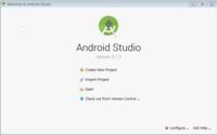 Android Studioの起動画面について start a new android studio project でアンドロイドアプリを作ろうと思っていたのですが、 起動画面が変わってしまい(画像参照)、新規で作ることができなくなってしまいま...