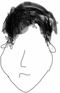 下膨れ、頬骨でてる男に似合う髪型を教えてください。 画像の通り、頬骨が横に出てて、その上のこめかみが凹んでて、全体的にひょうたんのような顔の形をしています。そしてやや面長です。 耳も上側が頭にぴったりとくっついていて、下側が開いてる状態で画像のようなかんじです。  短い髪型が絶望的に似合わなく、ツーブロックをすると、ひょうたんそのものです。  何か似合う髪型分かりますでしょうか?