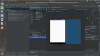 AndroidStudioのXMLレイアウトについて質問です。 新しくプロジェクトを作成して、MainActivity.xmlを開くとレイアウト表示画面が出るのですが その後、ボタンを配置しようとするとコンテンツツリーにはボタンが...