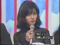 【いつ頃の中森明菜さんですか?】 この画像はいつ頃の中森明菜さんでしょうか? Mステにて、藤井フミヤさんも出演されていたそうです。