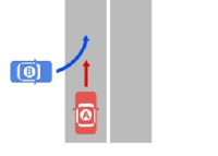 追突事故と言えば、先行する前車にぶつかるというイメージが強いですが、図のように横から飛び出してきた車にぶつかってしまった場合も「追突事故」になるのでしょうか??