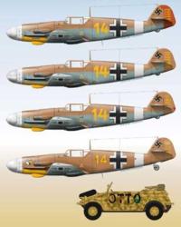 ドイツ空軍のエースパイロット、マルセイユの機体カラーで、写真にあるそれぞれの使用した時期を教えてください。 ちなみにみなさんは誰の 機体カラーが好きですか?