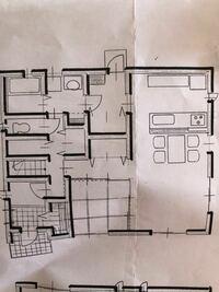 間取り診断お願いします 家事動線を考えた間取りですが、玄関から洗面までが狭いかなと思ったり、 和室の壁がなく、収納扉をつける予定です これで38坪です