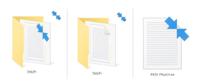 PCのショートカットアイコンやピクチャーデータなどに画像のような右上に水色の矢印のようなものがつくようになりました。 調べたところNTFS圧縮されているファイルということで、プロパティから矢印を消せること...