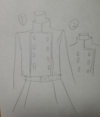 軍服についての質問です。  こういう軍服を創作ではよく見るのですが、実際はないのですか?  いろいろと調べてはみたのですが画像②は実際の軍服を調べても見つかったのですが、①がありませ ん。  これはや...
