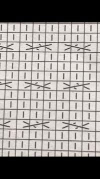 編み物の質問です! この2種類の記号の編み方が分かりません。 どなたか教えていただけませんでしょうか? よろしくお願いします。
