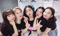 Red Velvetのメンバーの名前を左から教えてください
