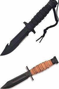 オンタリオ社製のシースナイフについて。 499 airforce survivalとsp-24 usn-1のどちらを買おうか迷ってます。 これ以外は眼中にありません。持っている方はアドバイスお願いします。