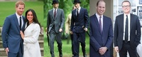 ジャケットの袖の長さについてですが、知恵袋ではスーツやテーラードジャケットの袖は、シャツを1~2cmほど出すのが正であり、シャツの見えないような長い袖を着るのは無知な日本人だけで異論は認めない、 という回答が主流のように思います。  ですが、ネットを見ていると、スーツの国イギリス王室はじめ、天下のブリオーニの社長とかでもシャツが見えない袖のスーツを着ている写真をちらほら見ます。 カジュ...
