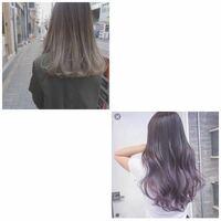 髪を染めたいのですが、上の髪色を入れて何日か楽しんでから下の髪色にしたいんですがその場合なんの色を入れれば下の髪色になりますか?