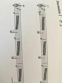 打楽器 パーカッションについての質問です! ビブラフォンの楽譜なんですがこれはどのようにやればいいのか教えてください。
