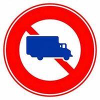 自車校の筆記試験でこの標識のある道路を総重量3tのトラックで走行した。 これは○ですか? それとも✖︎ですか?