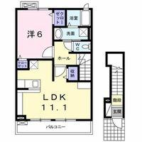 不動産の間取り図と専有面積について質問致します。 一階が玄関で二階に部屋がある間取り図(添付)を良く目にしますが、二階に上がって行く階段も専有面積に含まれるのでしょうか。