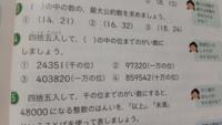 四捨五入の問題の( )の中の位までのがい数の意味が分かりません。教えて下さい…! なるべく分かりやすくお願いします!