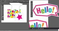 イラストレーターで、ハーフトーンを適用した星型を使ったパターンを作りたい。  最初に☆を作り、ハーフトーンを適用させました。 このままでは背景が白いので「乗算」にすると背景が透明になるのですが、パターンを作成する時に、コピーをして別の色に変えることができません。  画像トレースというところでマスクをしてから試したところ、色は変わりました。しかし、トレースをしたことでピンクの星はグレー...