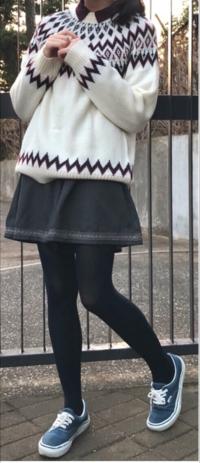 春から高校生の女子です。 私服の学校に進むんですけど、めちゃくちゃ服装に迷ってます。  写真のコーデってどうですか? ミニスカートにタイツってダサいって言われるじゃないですか、でも個人的にこれでも可愛...