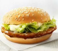 ハンバーガーの中で、てりやきバーガーは、第何位ですか?