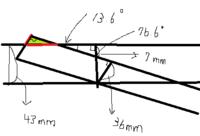 直角三角形等の辺の求め方を利用し、緑色の直角三角形の底辺と斜辺の長さの求め方を教えて下さい  何かの数字が足りない場合、どこの数値があればわかるのかも知りたいです 作業で必要な長さを知りたく具体的な...