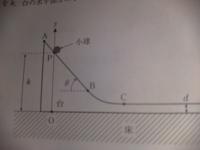物理に関して、下の画像は台が動き、斜面と小球及び台と地面に摩擦がない状態です。このとき、小球(質量m)の斜面に対する垂直抗力が重力加速度をgとしてmgcosθとならないのはなぜですか?