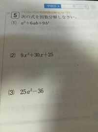 解き方教えて下さい。因数分解なんですけどよくわかりません。