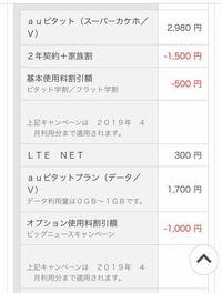 au電話料金にて質問です。 先月の電話料金が4500円前後だったのですが今月の料金が6000前後になっていました。  明細を見たら先月にはオプション使用料割引額−1000円 。 今月にはありませんでした。 このオプション使用料割引額とはなんですか?