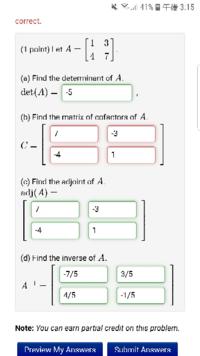 大学1年の行列がわかる方お願いしますm(_ _)m 画像の赤い部分の求め方を教えて下さい!!