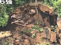 2008,6,14岩手・宮城内陸地震の際、ヘリコプターからの中継映像で巨人の骨が写し出されました。朝ズバだったと思いますが、巨人の骨はその後画面上ではなかったことにされましたが、そのあとはどうなったのでしょ...