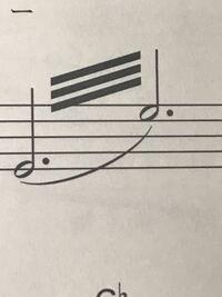 ヘ音記号の楽譜でこの楽譜あったんですけど、どうやって弾くのが正解ですか?