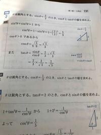 例題2についてで、なぜθは鋭角とするしか書いてないのに直角三角形って分かるんですか??鋭角って言うのは直角三角形の時だけに使う用語なんですか? 誰か教えてください ♂️