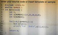 C言語の質問です! 配列bに配列aの要素の逆順を表示させたい のですがどこが間違っているかわかりません