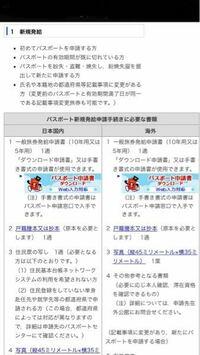 海外に行くためにパスポートを作らないといけないのですが、下の画像の日本国内と海外のどちらを用意すればいいですか?