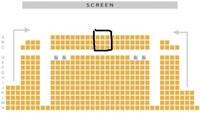 新宿バルト9にて舞台挨拶があるので予約したあと思っております。前の席だと首が疲れますか?画像のあたりはあまりオススメしませんか? みなさんのオススメの場所などありましたら教えてくだ さい。