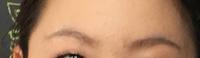 大学生のメイク初心者です。 この眉毛の描き方って変ですか? 感想、アドバイスがあれば何でもいいので お願いします。