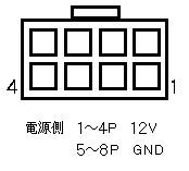 電源からグラボ(PCIE 8P)の配線について 先日同じような質問をしたのですが 電源側では1~4Pが12V、5~8PがGNDと言う配置の場合 グラボ側は6+2P構造になっているので 6P接続になった場合3Pと7Pは信号線として...