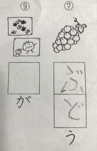 緊急 小学校1年生の国語の宿題なのですが答えが何か分かりません  下の写真の図を見て答えるのですが何でしょうか? 四角の中には( ゛ ゜)濁点と半濁点が入った文字が入るみたいです。 こ の図は何ですか?