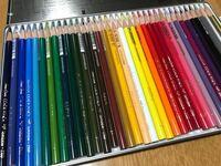 色鉛筆について。 ポケモンのゲッコウガを色鉛筆で描いているのですが、クリーム色みたいなのが描けません。 画像が1枚しか貼れず、ゲッコウガは調べてみてください。 ⤵︎ ︎の色鉛筆から作る方法はありますか?