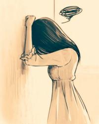 【大喜利】 画の彼女は、どうしちゃったのでしょうか・・・?   [例] なんて、女心をよーく判ってくれるステキな男性なの(///∇///)♪ と思って、会いに行ったら、  ・・・ホントに女だった、なんて。(-_-;)