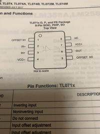 オペアンプについて 写真のオペアンプを使って低周波発振器を製作するのですが、4番ピンのVCC-はグランドに繋ぐ形でよろしいでしょうか?