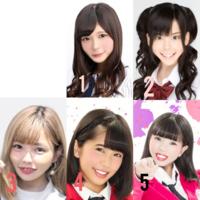加工アイドル選手権 あなたはどのアイドルを好きですか?1から5の中から選んでください。