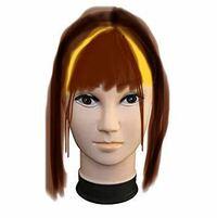 ヘアアレンジ ヘアスタイル 前髪が濃いめのぱっつんで仕事上ポニーテールをするのですが前髪と目尻横に少しだけ短めの触覚?を残して結ぶと黄色で塗りつぶした範囲が真正面から見て目立ちます。  何というかより...