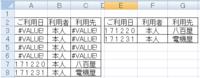 """エクセルマクロ For Next 文でIF分岐で「""""#VALUE!""""だったら実行する」を表現したい   画像参照お願いします。  ある元のデータを材料に、A3:C8 のデータが入っています。 IF関数とか計算式が入っていて、このような表示になったとします。  元のデータでどうしても関係のないデータが含まれているので、#VALUE! とセルに表示されている部分..."""