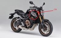 バイクについては全くの初心者です。 ホンダのCB650Rというバイクなのですが、画像のカバーみたいのは、何の役目をはたしているのでしょうか?また、このカバー?サイドカウル? は取り外しできるのでしょうか?...