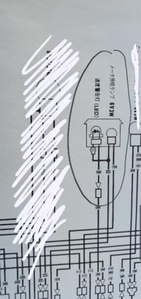 メーター照明ランプの所のプラスかマイナスかはこの図を見ただけでわかりますか?わかる方、教えてください。