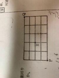 組み合わせの問題です この✖︎の部分を通らずにPからQまでの道順の求め方を教えてください!