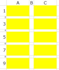 ExcelのマクロをWordに変換したいです。 現在、横3セル縦9セルの表があり、シェイプを1つだけ適当に置いてある状態(添付参照)から、A1,A3,A5,A7,A9,C1,C3,C5,C7,C9の10セルの中央にコピーして配置するというマク...